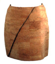 Women cork skirt