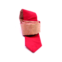 Cork tie with red lining