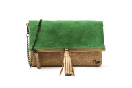 Clutch in jute and cork - Angel Clutch