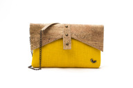 Clutch in jute and cork - Lily Clutch