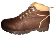 Brown cork boot